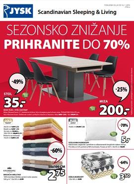 JYSK katalog Sezonsko znižanje do 16.1.