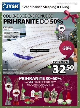 JYSK katalog Božične ponudbe do 24.12.