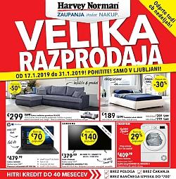 Harvey Norman katalog Velika razprodaja Ljubljana