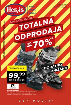 Hervis katalog Totalna odprodaja do – 70 %