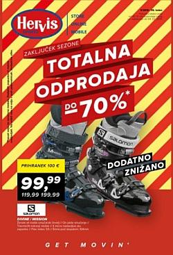 Hervis katalog Totalna odprodaja do – 70 %
