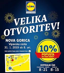 Lidl katalog Velika otvoritev Nova Gorica