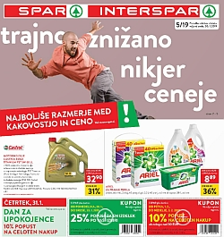 Spar in Interspar katalog do 05. 02.