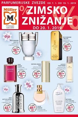 Muller katalog parfumerija Zimsko znižanje
