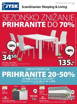 JYSK katalog Sezonsko znižanje do 23.1.