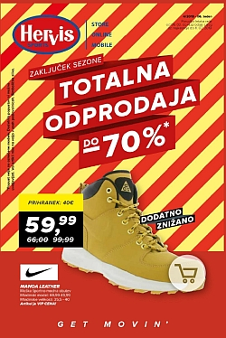 Hervis katalog Totalna razprodaja do – 70 %
