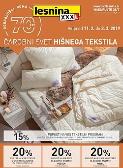 Lesnina katalog Čarobni svet hišnega tekstila