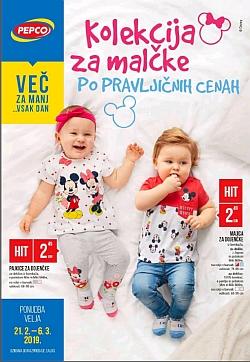 Pepco katalog Kolekcija za malčke