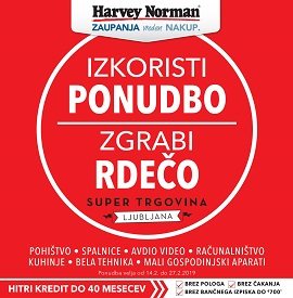 Harvey Norman katalog Zgrabi rdečo