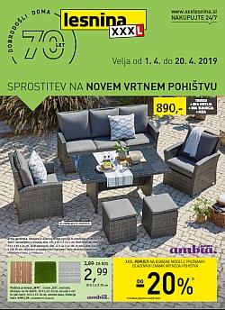 Lesnina katalog Vrtno pohištvo do 20. 04.