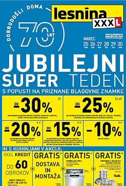 Lesnina katalog Jubilejni super teden