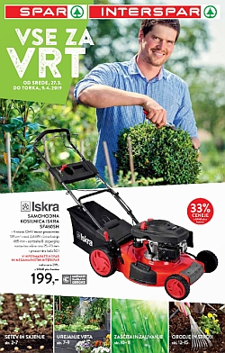 Spar in Interspar katalog Vse za vrt do 09. 04.