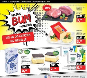 Tuš vikend BUM akcija do 03. 03.
