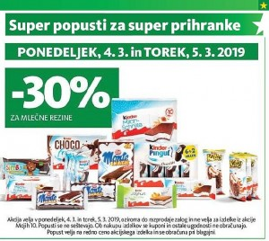 Tuš akcija Super popusti do 05. 03.