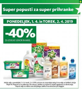 Tuš akcija Super popusti do 02. 04.