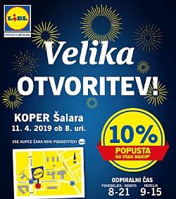 Lidl katalog Velika otvoritev Koper 11. 04.