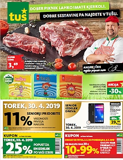 Tuš katalog trgovine in franšize do 06. 05.