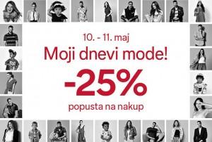 C&A akcija – 25 % na nakup do 11. 05.