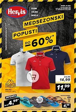 Hervis katalog Medsezonski popusti do – 60 %