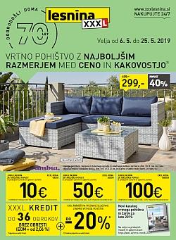 Lesnina katalog Vrtno pohištvo do 25. 05.