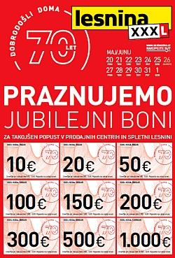 Lesnina katalog Jubilejni boni do 01. 06.