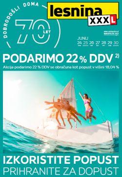 Lesnina katalog Podarimo DDV do 30. 06.