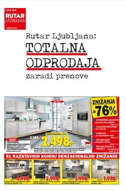 Rutar katalog Ljubljana Odprodaja zaradi prenove