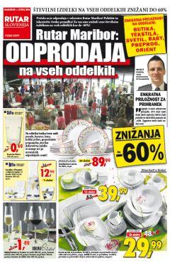 Rutar katalog Maribor Odprodaja na vseh oddelkih