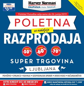 Harvey Norman katalog Ljubljana do 30.6.