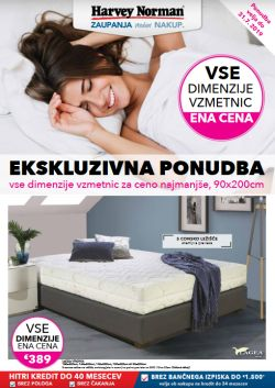 Harvey Norman katalog Vzmetnice