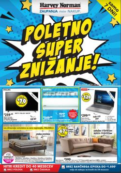 Harvey Norman katalog Poletno super znižanje