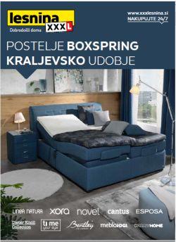 Lesnina katalog Postelje Boxpring do 31. 12.