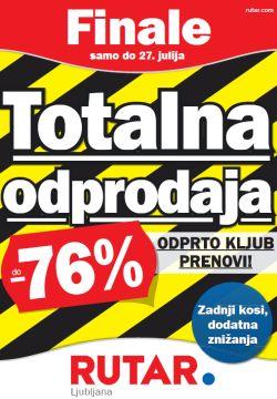 Rutar katalog Totalna odprodaja Ljubljana