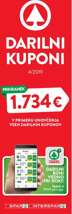 Spar in Interspar katalog Boni 4/2019