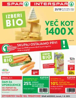 Spar in Interspar katalog do 06. 08.