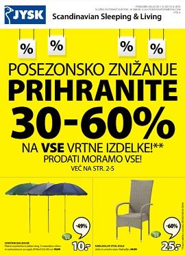 JYSK katalog Posezonsko znižanje do 14.8.