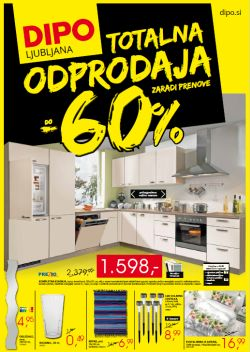 Dipo katalog Totalna odprodaja Ljubljana do 03.08.
