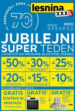 Lesnina katalog Jubilejni super teden do 18. 08.