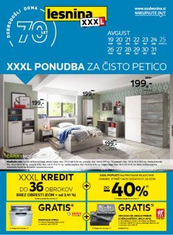 Lesnina katalog XXXL ponudba do 31. 08.