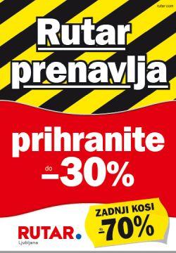 Rutar katalog Ljubljana Rutar prenavlja do 17. 08.