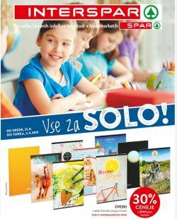 Spar in Interspar katalog Vse za šolo
