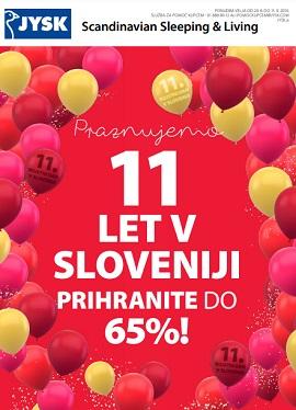 JYSK katalog Praznujemo 11 let v Sloveniji
