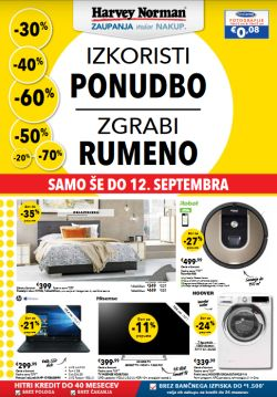 Harvey Norman katalog Zgrabi rumeni do 12. 09.