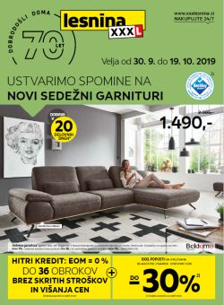 Lesnina katalog Sedežne garniture do 19. 10.