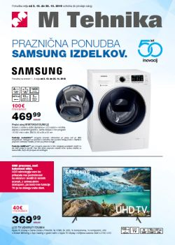 Mercator katalog tehnika Samsung do 30. 10.