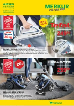 Merkur katalog Jesen Tefal in Rowenta do 15. 10.