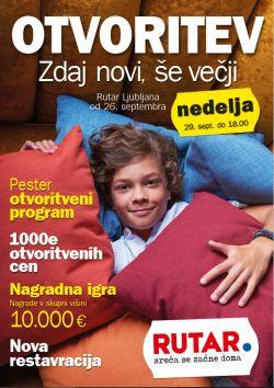 Rutar katalog Otvoritev Ljubljana do 29. 09.