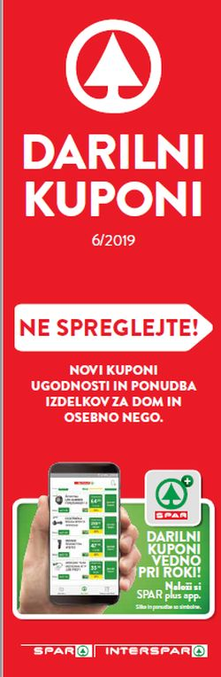Spar in Interspar Darilni boni 06/2019