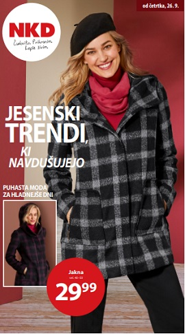NKD katalog Jesenski trendi ki navdušujejo