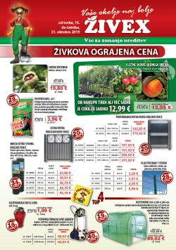 Živex katalog do 31. 10.
